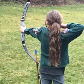 Cubs Archery At Sevenoaks Sleepover